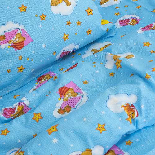 Детское постельное белье из бязи 1.5 сп 4098/2 Облачко голубой фото 2