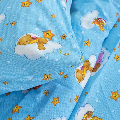 Детское постельное белье из бязи 1.5 сп 4098/2 Облачко голубой фото 3