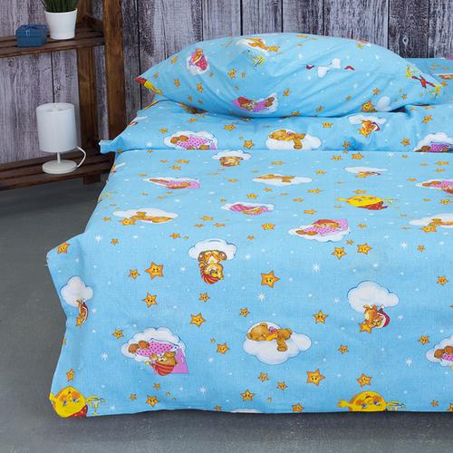 Детское постельное белье из бязи 1.5 сп 4098/2 Облачко голубой фото 4