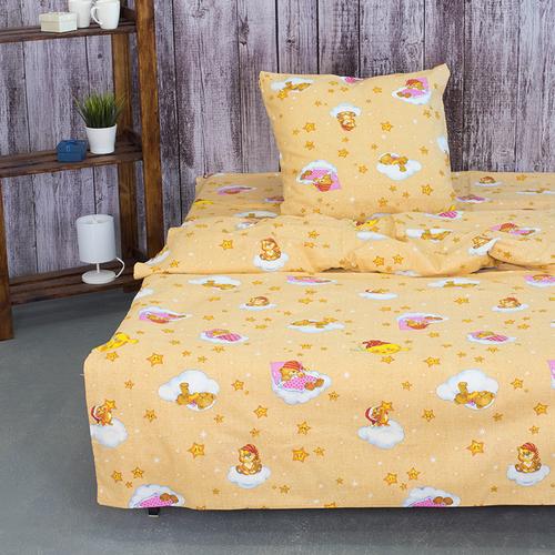 Детское постельное белье из бязи 1.5 сп 4098/1 Облачко желтый фото 1