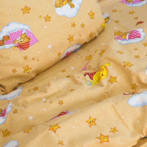 Детское постельное белье из бязи 1.5 сп 4098/1 Облачко желтый фото 2
