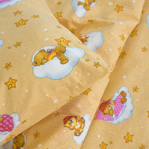 Детское постельное белье из бязи 1.5 сп 4098/1 Облачко желтый фото 3
