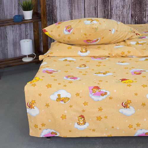 Детское постельное белье из бязи 1.5 сп 4098/1 Облачко желтый фото 5