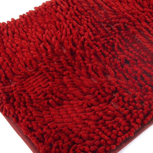 Коврик для ванной Makaron 40/60 цвет красный фото 1