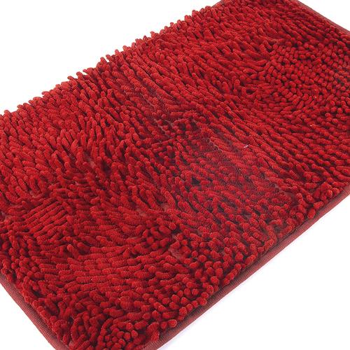Коврик для ванной Makaron 40/60 цвет красный фото 3