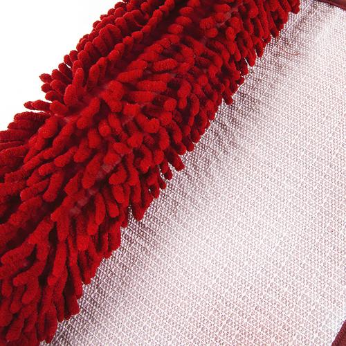 Коврик для ванной Makaron 40/60 цвет красный фото 2