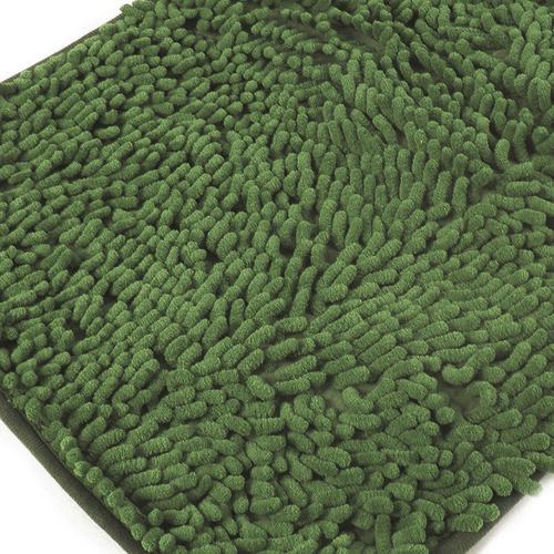 Коврик для ванной Makaron 40/60 цвет темно-зеленый фото 1