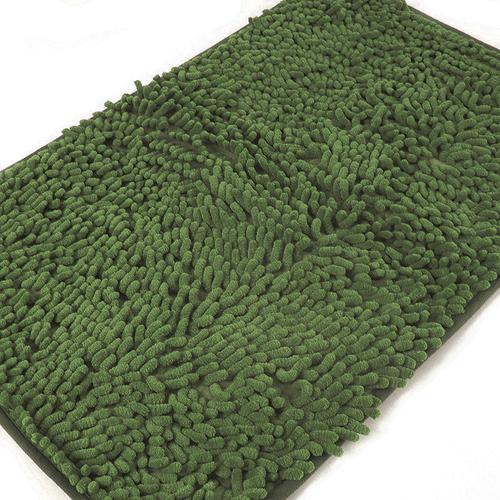 Коврик для ванной Makaron 40/60 цвет темно-зеленый фото 3