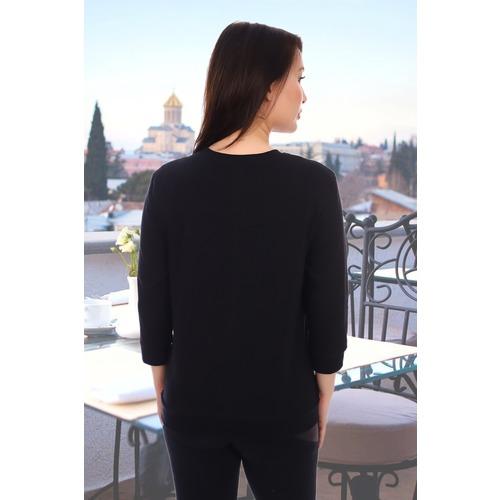 Блуза 10224 черная р 46 фото 3