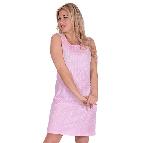 Сорочка ЖС 013 горох на розовом р 48 фото 1
