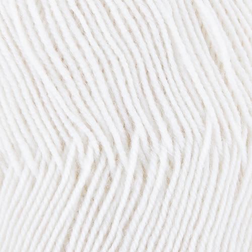 Пряжа для вязания ПЕХ Австралийский меринос 100гр/400м цвет 001 белый фото 2