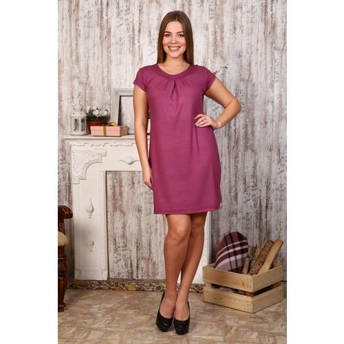 Платье Марго однотонное вискоза брусника Д404 р 62 фото 1