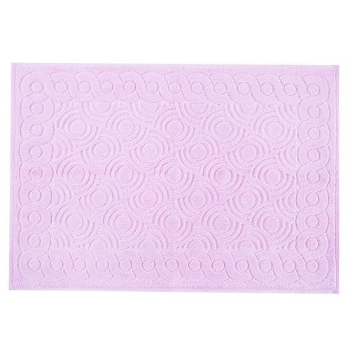 Полотенце-коврик махровое Pecorella ПЦ-103-03083 50/70 см цвет 128 розовый фото 1