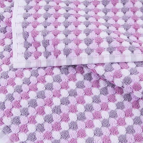 Полотенце-коврик махровое Musivo ПЦ-516-02484 50/70 см цвет 40000 бело-розовый фото 2