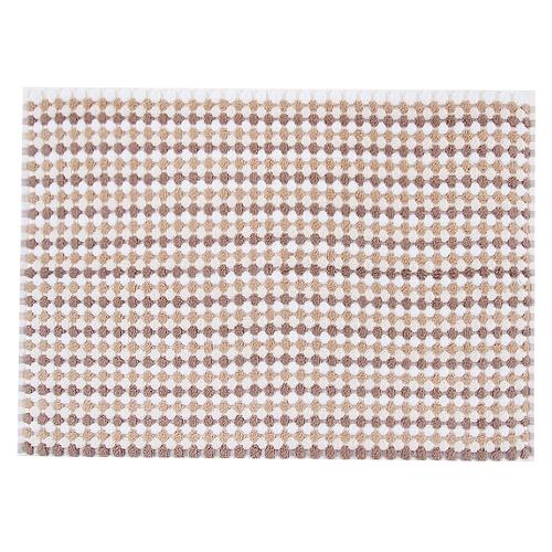 Полотенце-коврик махровое Musivo ПЦ-516-02484 50/70 см цвет 10000 бело-коричневый фото 1