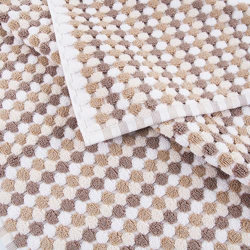 Полотенце-коврик махровое Musivo ПЦ-516-02484 50/70 см цвет 10000 бело-коричневый фото 2