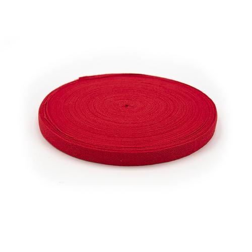 Лента киперная цвет красный 1,5см 1 метр фото 1