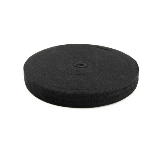 Лента киперная цвет черный 2,5см 1 метр фото 1