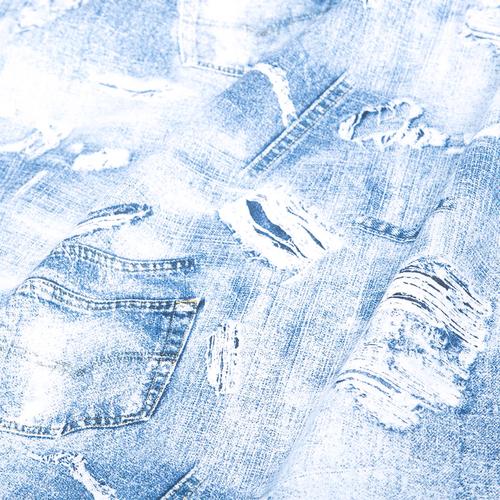 Ткань на отрез бязь плательная 150 см 11334/1 Джинса фото 1