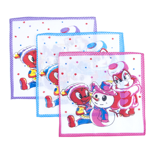 Платки носовые детские 20х20 Снеговик (10 шт) фото 1