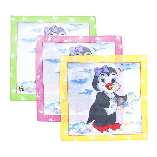 Платки носовые детские 20х20 Пингвиненок (12 шт) фото 1