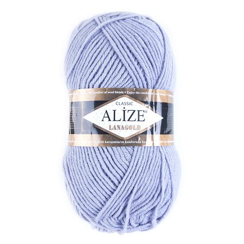 Пряжа для вязания Ализе LanaGold (49%шерсть, 51%акрил) 100гр цвет 200 серый фото 1