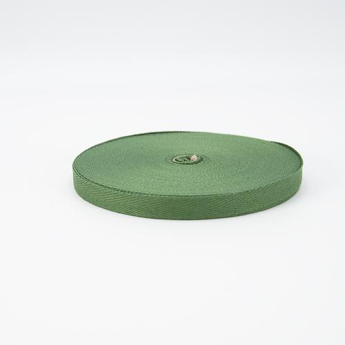 Тесьма киперная 10 мм хлопок 1,8г/см арт.08с-3495 цв.зеленый 009 фото 1