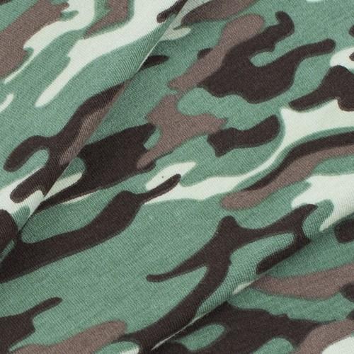 Ткань на отрез кулирка пенье Камуфляж В хаки R163 фото 3