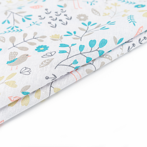 Ткань на отрез бязь плательная 150 см 2136/2 Фламинго в цветах фото 7