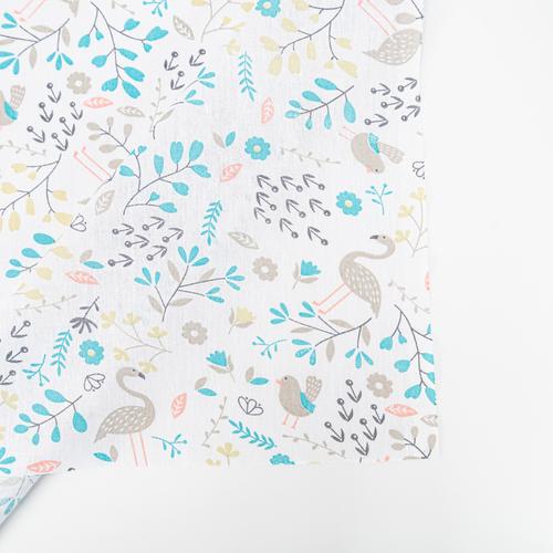 Ткань на отрез бязь плательная 150 см 2136/2 Фламинго в цветах фото 6