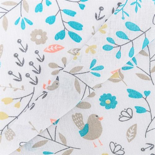 Ткань на отрез бязь плательная 150 см 2136/2 Фламинго в цветах фото 5