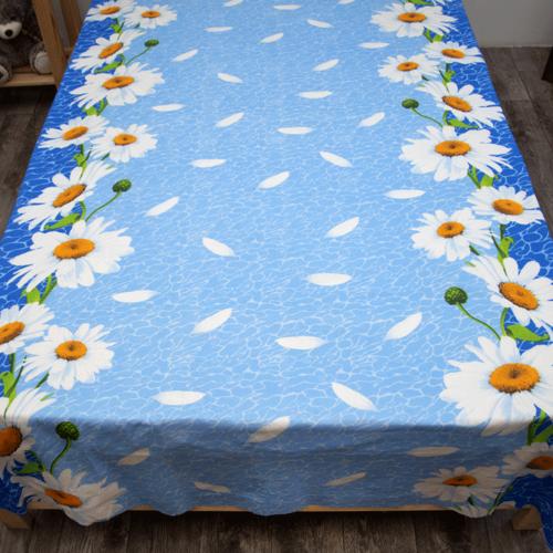 Маломеры Бязь 120 гр/м2 150 см М222 Ромашки на голубом 11 м фото 5