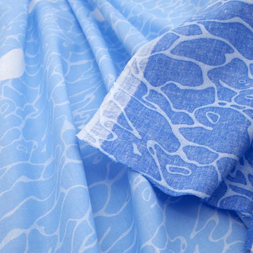 Маломеры Бязь 120 гр/м2 150 см М222 Ромашки на голубом 11 м фото 2
