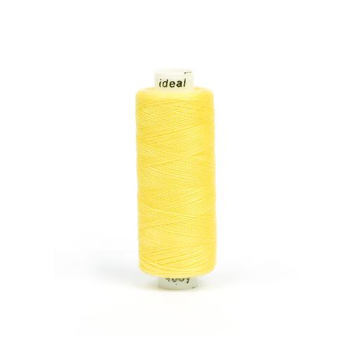 Нитки бытовые IDEAL 40/2 366м 100% п/э, цв.128 желтый фото 1