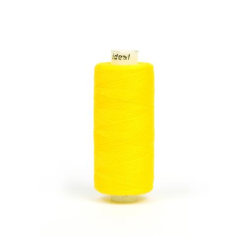 Нитки бытовые IDEAL 40/2 366м 100% п/э, цв.136 желтый фото 1