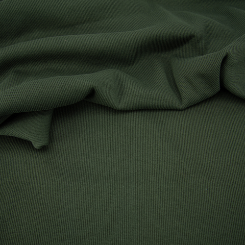Ткань на отрез кашкорсе с лайкрой 5802-1 цвет темный хаки фото 3