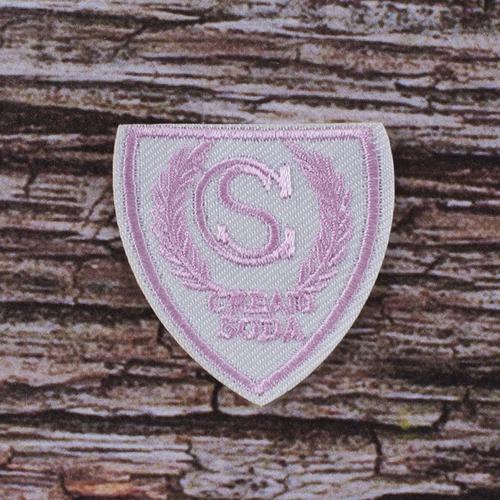 Термоаппликация ТАВ s1508 шеврон бело-розовый 4.8*4,3см фото 1
