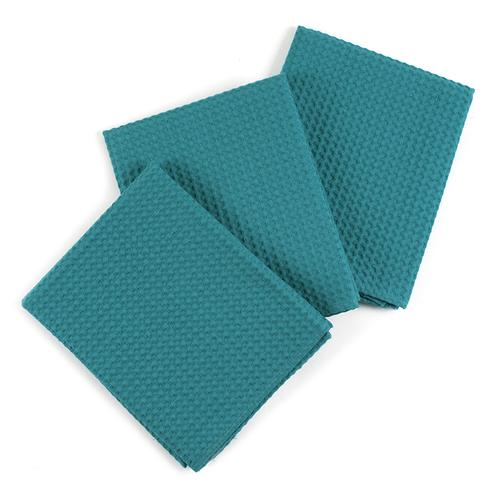 Набор вафельных полотенец Премиум 3 шт 45/70 см 530 изумруд фото 1