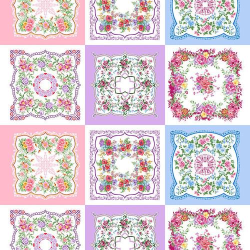 Ситец 95 см набивной арт 44 Тейково рис 21218 вид 2 Цветочная поляна фото 1