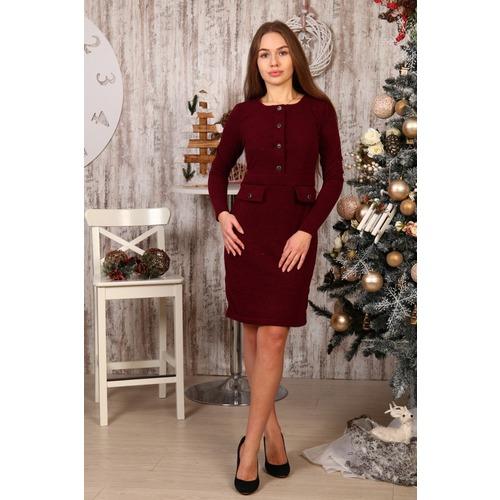 Платье Ванесса бордовое Д495 р 48 фото 1