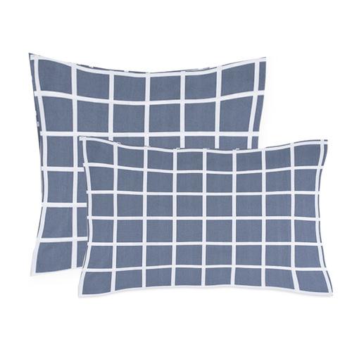 Наволочка поплин 28254/1 Клетка серый основа 70/70 фото 1
