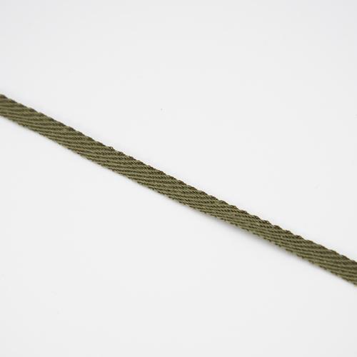 Тесьма киперная 5 мм хлопок 1,9г/см арт.ЛКЭ-5ХХ-100 цв.хаки фото 3