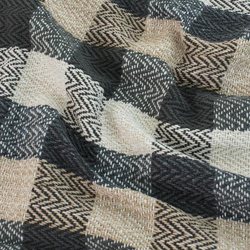 Плед Зигзаг 100% ПАН 500 гр цвет черный 150/210 см фото 4