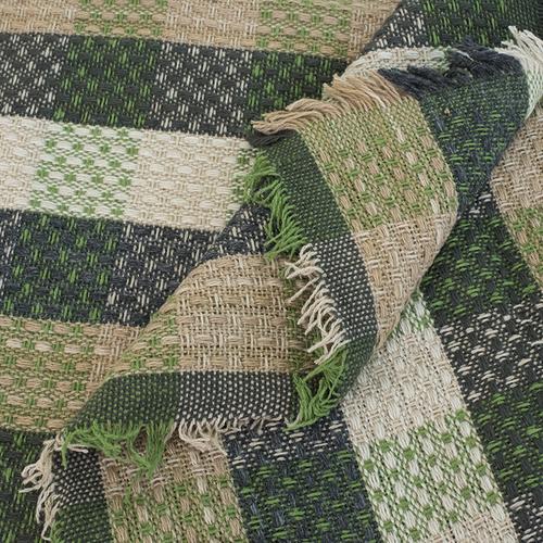 Плед Рогожка 100% ПАН 500 гр цвет зеленый 150/210 см фото 3