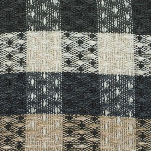 Плед Ромбики 100% ПАН 500 гр цвет черный 150/210 см фото 2