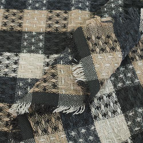 Плед Ромбики 100% ПАН 500 гр цвет черный 150/210 см фото 3