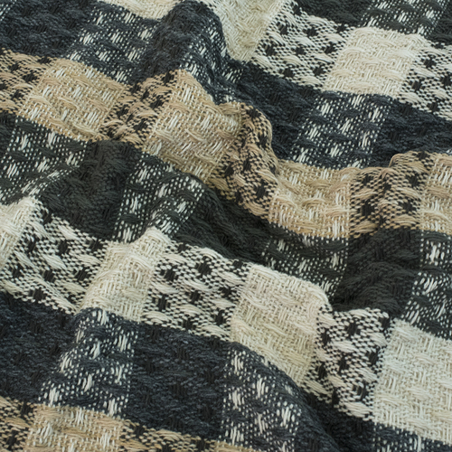 Плед Ромбики 100% ПАН 500 гр цвет черный 150/210 см фото 4