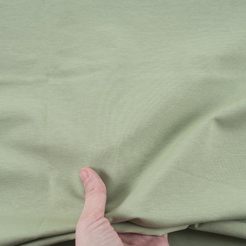 Ткань на отрез кулирка 571-1 цвет фисташковый фото 3