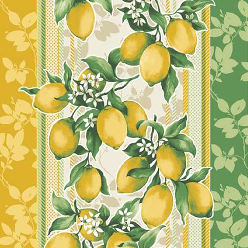Ткань на отрез вафельное полотно 50 см 170 гр/м2 198561 Лимоны фото 1