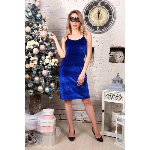 Платье Матильда синее Д512 р 54 фото 1